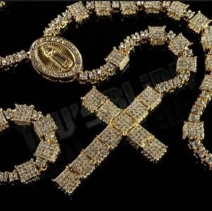 Coming soon💎Mens iced out 14k gold plated rosary